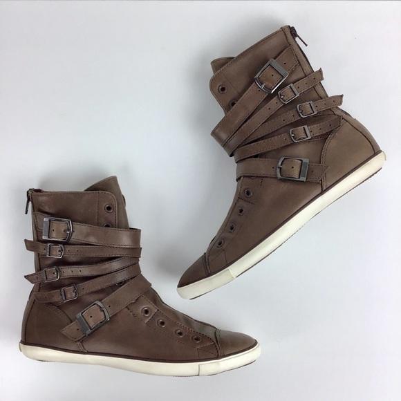 73b5a3ed71de05 Converse Shoes - Converse Leather High Top Multi Strap Moto Sneaker